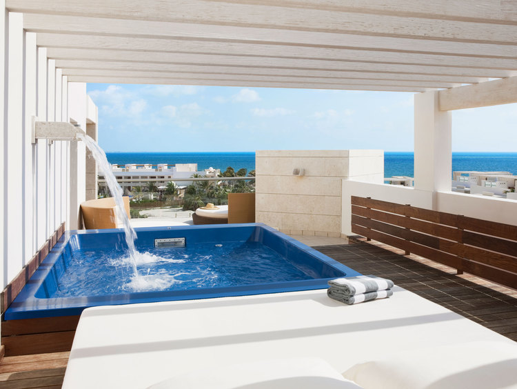 Ocean View Terrace Suite with Plunge Pool at Beloved Playa Mujeres