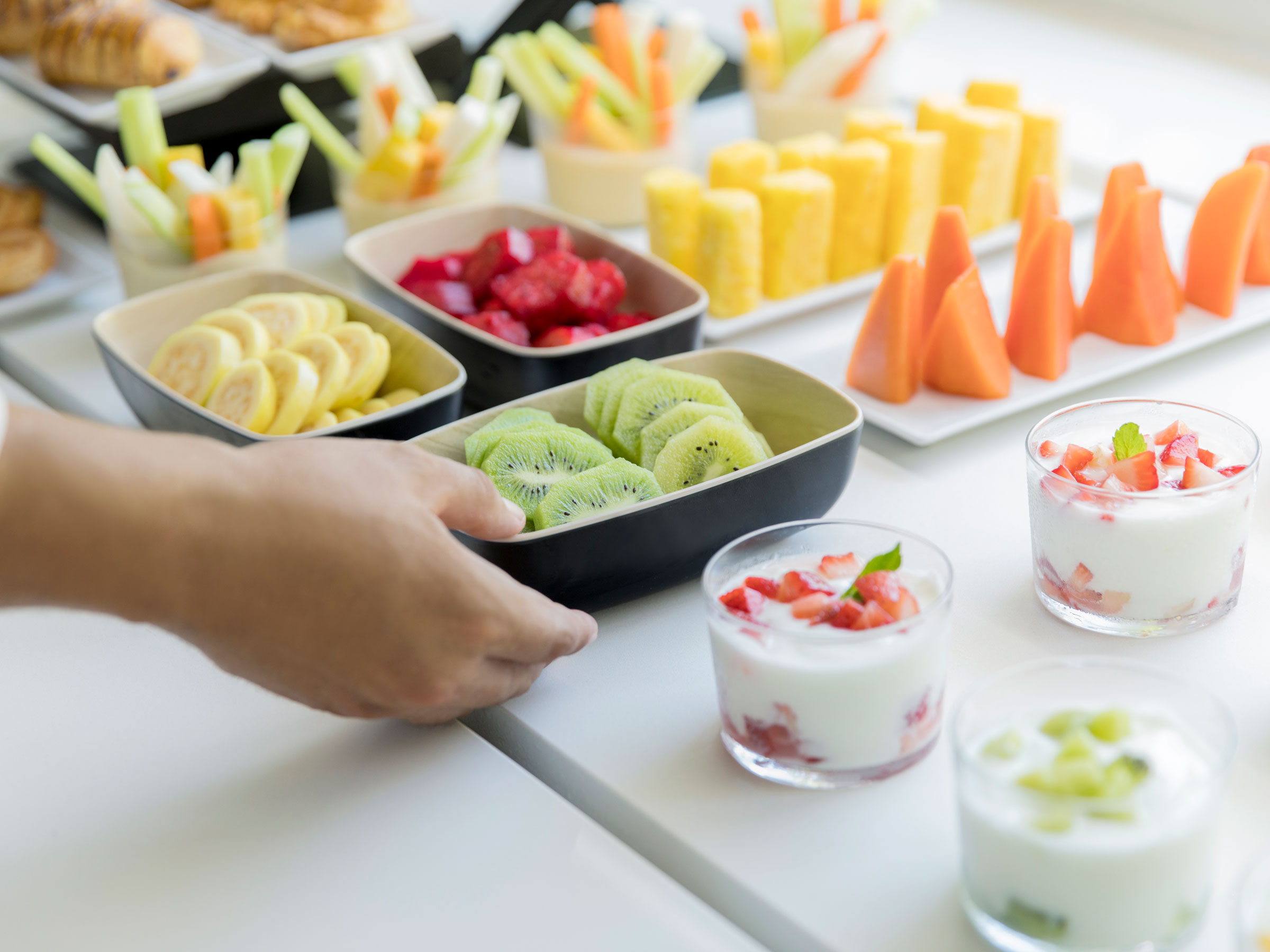 Healthy Hotel Food Buffet in a Cancun Resort